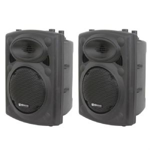 "2 x QTX QR10 600W 8-Ohm 10"" Passive DJ Band Club PA Speaker or Monitor 6.4Kg"